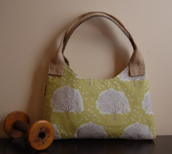 Jute Handled Shoulder Bag made with Timber by Jessica Levitt