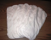 Bamboo Diaper Inserts - Small, set of 6