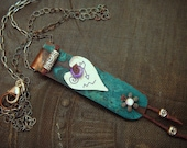 Hill Tribe and South West Sassy Heart Copper Necklace