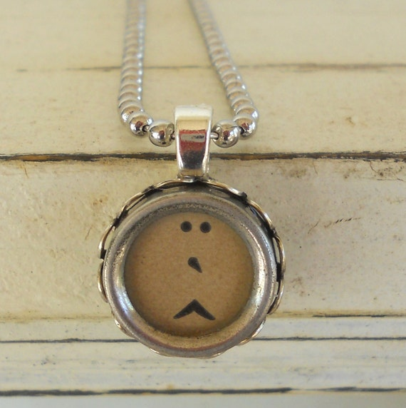 Typewriter Key Necklace, Typewriter Key Jewelry, French Typewriter, Punctuation, ALL LETTERS Available- Recycled Jewelry