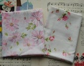 """Pink Fabric Stack - 2 Pieces of 20"""" x 20"""""""