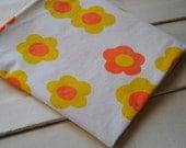 1 Yard Vintage Orange and Yellow Fabric