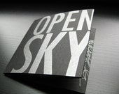 Letterpress Artist Book, Portland Poet, Allison Dubinsky, Open Sky, Gifts for Writers, Poetry, Prose Poem, Small Press, Limited Edition