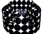 Home of the Original Bumbo Seat COVER in Black/White Disco Dot by Michael Miller