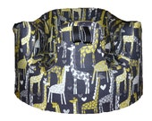 Home of the Original Bumbo Seat COVER in Gray Giraffe Love by Michael Miller
