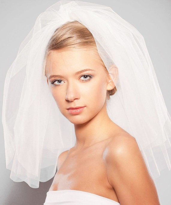 Items Similar To Two Layered Veil Ivory Champagne