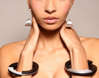 Fashion Kandinsky XL Earrings with Gold