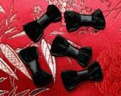DESTASH Black Satin and Velvet Bows Gothic Lolita 20PCS
