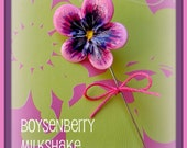 Boysenberry Milkshake Pansy Pin Topper