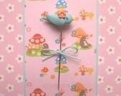 Robin Blue Bird with Blossom Pin Topper