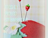 Freshly Picked Strawberries Pin Topper Set