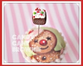 Candy Cane Peppermint Brownie Pin Topper