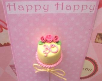 Happy Birthday Cake Pin Topper
