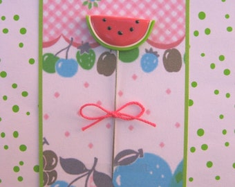 Garden Fresh Watermelon Slice Pin Topper