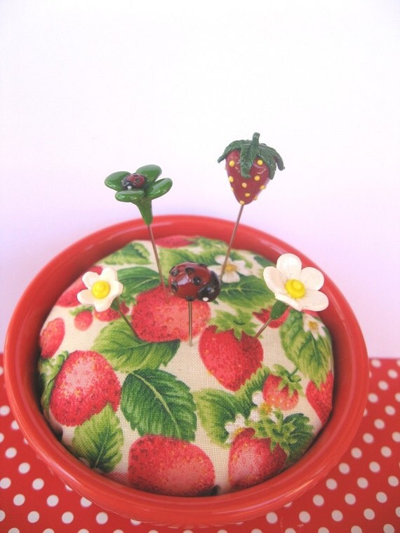 SAMPLE SALE Strawberry Fields Forever Pin Topper Set