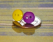 Mini Candy Button Post Earrings