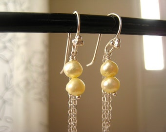 50% OFF Lemon Yellow Pearl Earrings