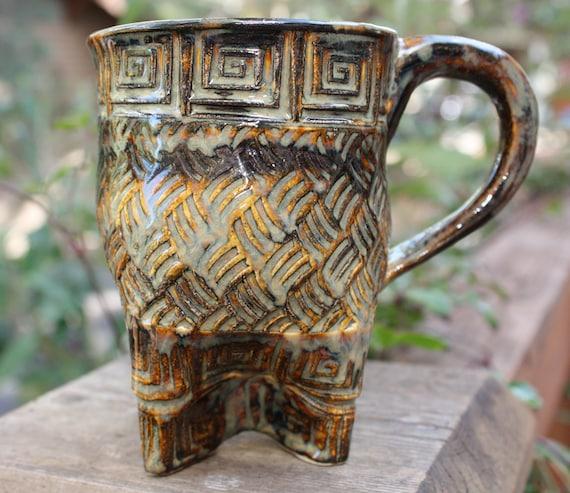 Textured Ceramic Coffee Mug
