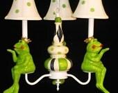 Childrens Lighting Frog Prince Chandelier