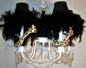 Leopard  Print High Heel Shoes Chandelier