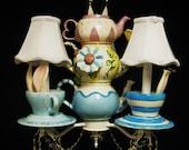 Alice In Wonderland Mad Hatter Tea Party Chandelier - Mad Hatter Lighting -  Wonderland Decor