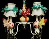 Kid's Room Chandelier Lighting - Butterfly Chandelier  -  Children's Ceiling Fixture -