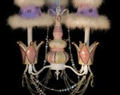 Princess Crown Chandelier Girl's Room Lighting