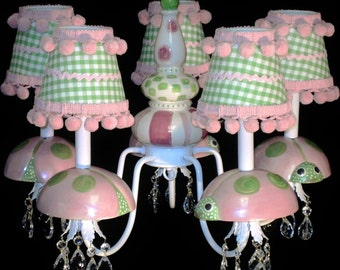 Kid's Lighting Ladybug Nursery Chandelier