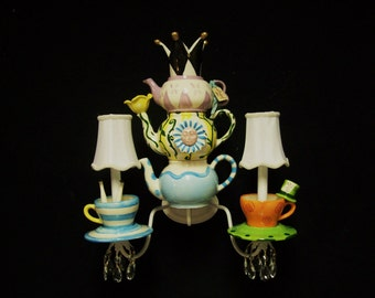 Alice In Wonderland Tea Party Sconce