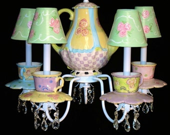 Tea Cups and Teapot Chandelier