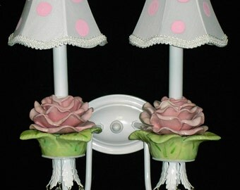 Wall Sconce - Roses - Shabby French Decor