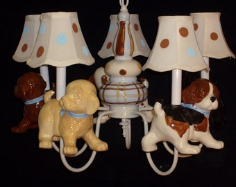 Childrens Chandelier - Puppy Dog Theme
