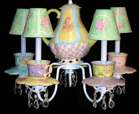 Tea Cups and Teapot Chandelier