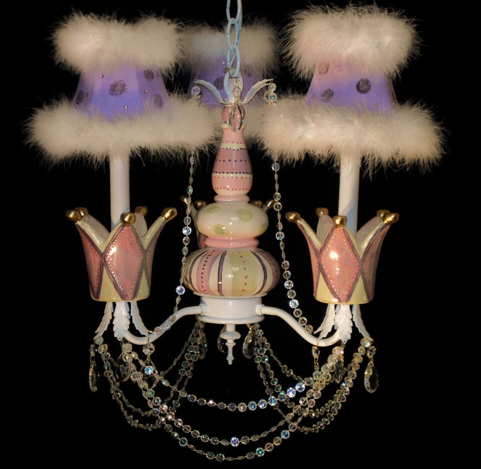 Princess Crown Chandelier Girl s Room Lighting