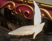 Vintage Mother of Pearl Seagull Pin Brooch