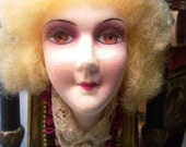 Antique French  Boudoir Doll Altered Art Clockcase