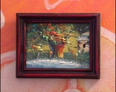ON SALE Vintage Miniature Painting artist unknown