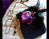 Witching hour Goth Evening bag altered vintage