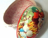 Paper Mache West German VIntage easter egg
