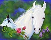 ACEO Pegasus Fantasy Horse Foal Limited Edition Art Print Summer Magic