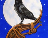 Raven Crow ACEO Fine Art Print The Watcher