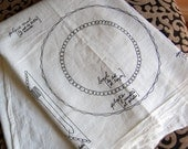 NEW- Flour Sack Towel with Trilingual Place Setting Design