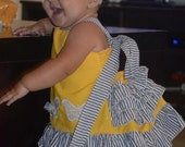 Custom Boutique--Morphosis Dress --girls sizes 6months, 1T , 2T,3T,4,5 and 6
