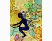 Fairy ACEO print of original mixed media drawing