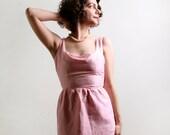Vintage Wiggle Dress - Cotton Candy Pink 1960s Day Dress - XS