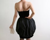 Vintage Mini Dress Contempo Casuals Strapless 1980s Party Dress - XS