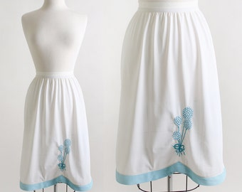 Balloons Half Slip Vintage Sky Blue Embroidered Skirt