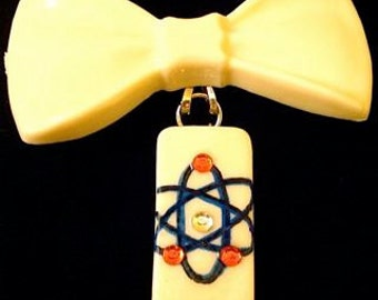Atomic Bow Brooch