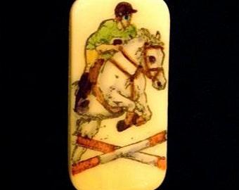 Show Jumper Brooch Pin