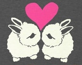 Bunnies Tee \/ GNOME ENTERPRISES \/ heather black \/ UNISEX SM MD LG XL